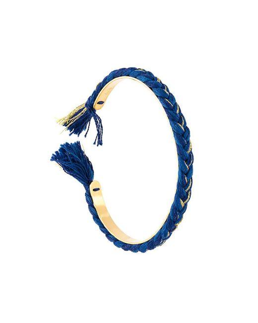 Aurelie Bidermann | Metallic Copacabana Goldplated Bracelet | Lyst