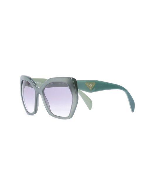 Prada Hexagonal Frame Sunglasses in Green Lyst
