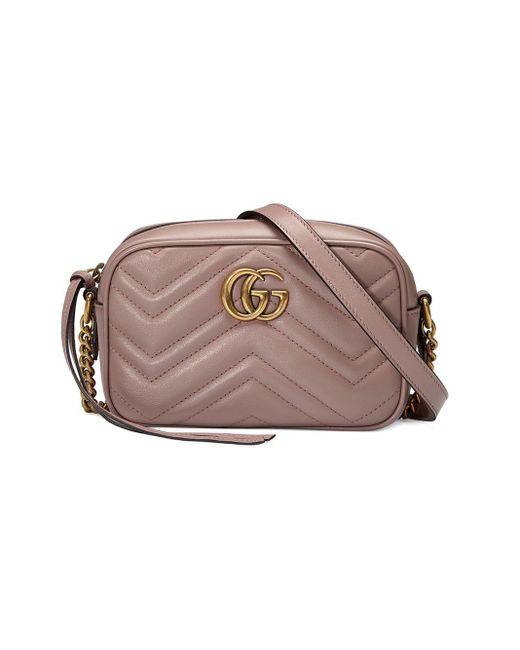 Bolso de hombro GG Marmont de matelassé Gucci de color Multicolor
