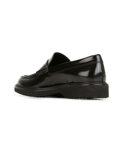 Hogan Rubber Sole Penny Loafers in Black for Men   Lyst