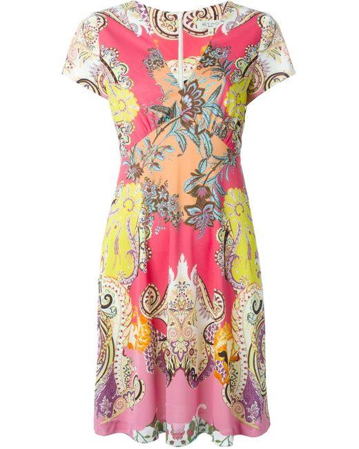 Etro   Multicolor Printed Silk Tunic-dress   Lyst