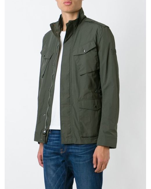 woolrich military jacket in gray for men grey save 31. Black Bedroom Furniture Sets. Home Design Ideas
