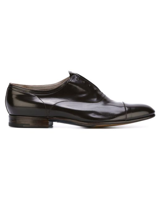 Premiata Stacked Heel Oxford Shoes In Black For Men | Lyst