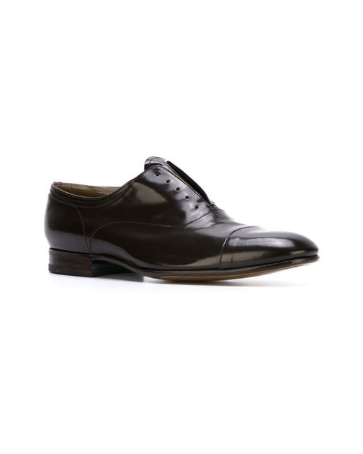 Premiata Stacked Heel Oxford Shoes In Black For Men (BROWN) - Save 21% | Lyst