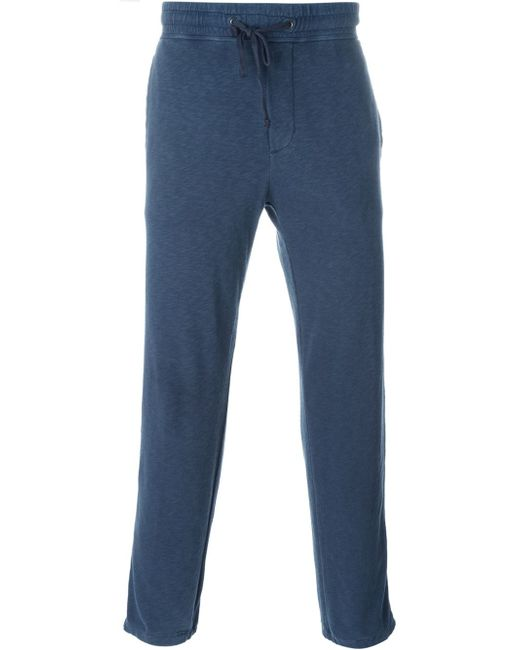 James Perse | Blue Drawstring Track Pants for Men | Lyst