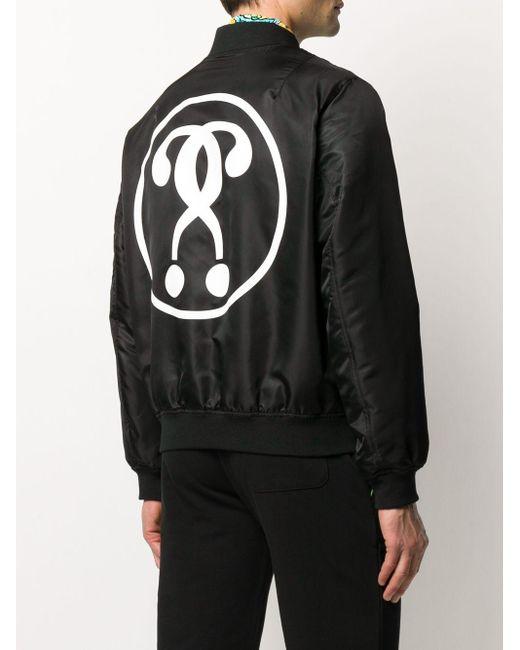 Бомбер С Логотипом Moschino для него, цвет: Black