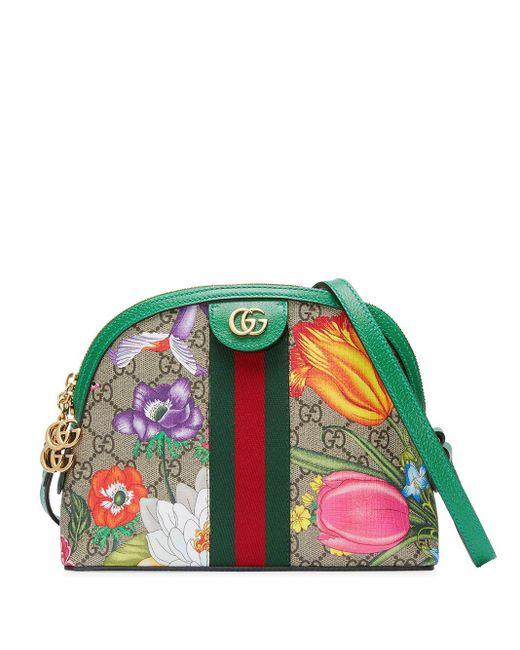 Gucci オフィディア GGフローラ ショルダーバッグ Green