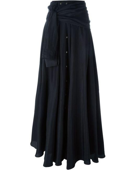 faith connexion shirt style maxi skirt in black lyst