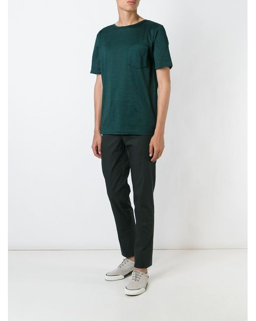 Lanvin Boat Neck T Shirt In Green For Men Save 45 Lyst