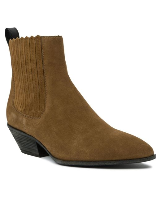 giuseppe zanotti western suede ankle boots in brown save