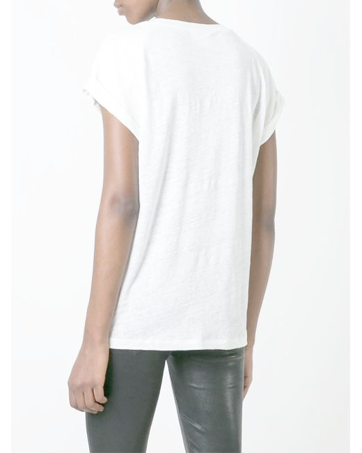 Dkny Scoop Neck T Shirt In White Save 20 Lyst