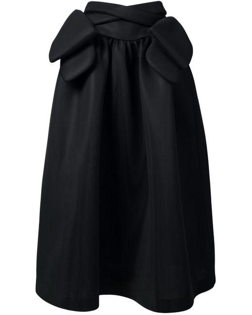 rocha bow detail maxi skirt in black lyst
