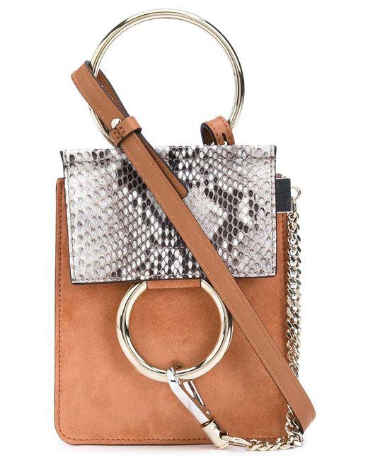 chlo mini 39 faye 39 crossbody bag in animal brown lyst. Black Bedroom Furniture Sets. Home Design Ideas