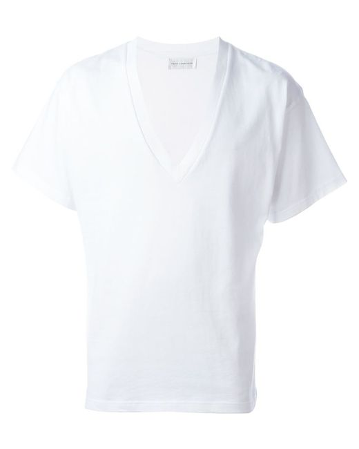 Faith Connexion Deep V Neck T Shirt In White For Men Lyst
