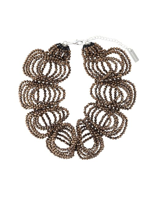 Night Market | Brown Beaded Necklace | Lyst