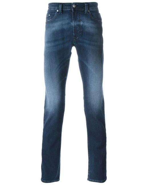 DIESEL | Blue Tepphar Skinny Jeans 855g Contrast Waist Mid Wash for Men | Lyst