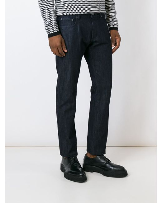 Ferragamo Slim-fit Jeans in Black for Men (BLUE) - Lyst