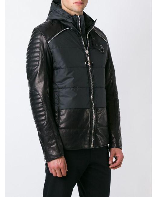 philipp plein 39 sweden 39 jacket in black for men lyst. Black Bedroom Furniture Sets. Home Design Ideas