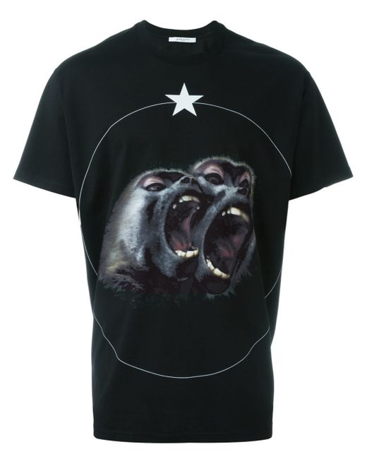 Givenchy Monkey Brothers T Shirt In Black For Men Lyst