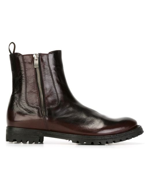 officine creative civeyrac buffalo ankle boots in red lyst. Black Bedroom Furniture Sets. Home Design Ideas