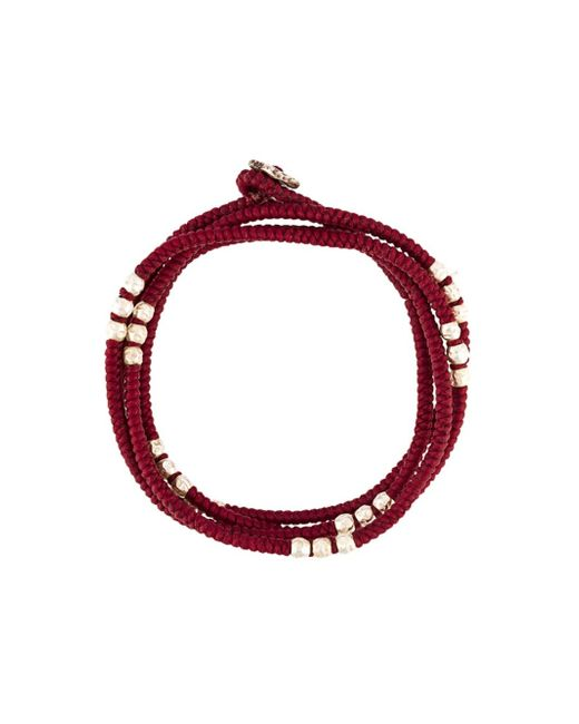 M. Cohen | Red Beaded Bracelet | Lyst