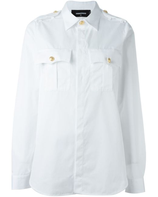 DSquared² | White 'sergeant' Shirt | Lyst