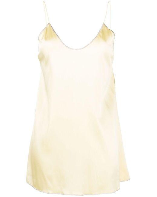 Платье-комбинация С Открытой Спиной Oseree, цвет: Yellow