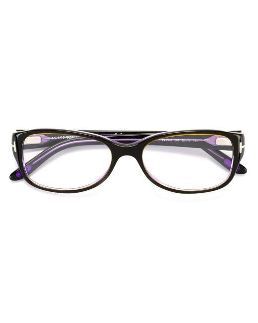 Tom ford Rectangular Frame Glasses in Black Lyst