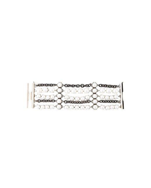 Lanvin | White Metropolis Pearl and Chain Bracelet | Lyst