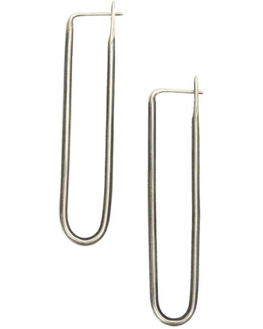 werkstatt m nchen werkstatt m nchen long slim earrings in metallic lyst. Black Bedroom Furniture Sets. Home Design Ideas