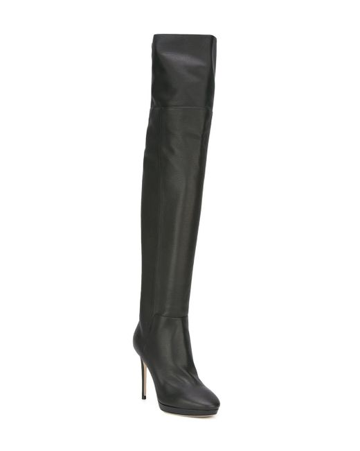 jimmy choo hayley 100 thigh high boots in black save 6
