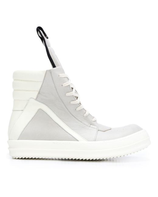 Rick Owens | White Geobasket High-Top Sneakers for Men | Lyst