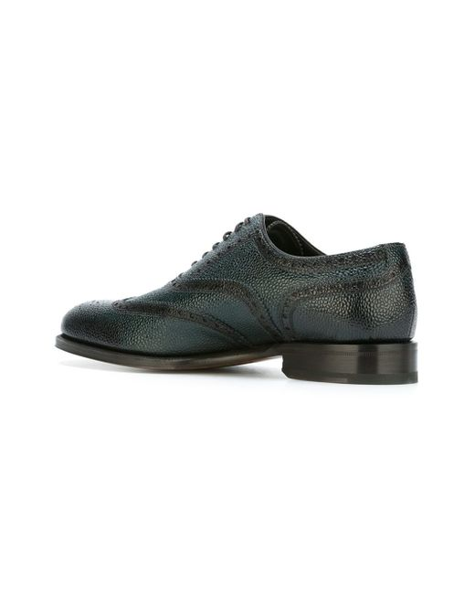 Dsquaredu00b2 Brogue Detail Oxford Shoes In Green For Men | Lyst