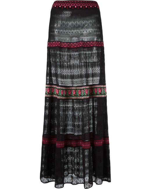 cecilia prado knit maxi skirt in black lyst