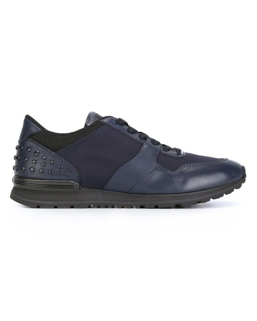 Tod's   Blue Panelled Sneakers for Men   Lyst