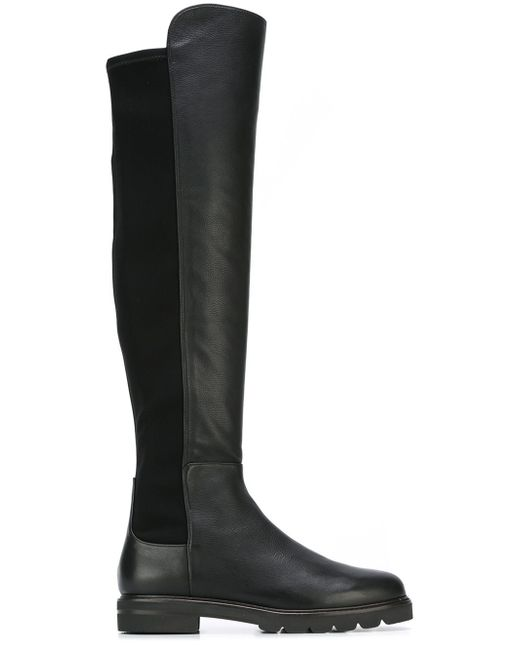 Stuart Weitzman | Black 5050 Leather Over-The-Knee Boots | Lyst