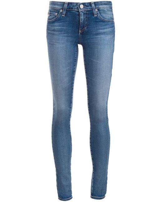 AG Jeans | Blue Stilt Slim-fit Mid-rise Cigarette Jeans | Lyst