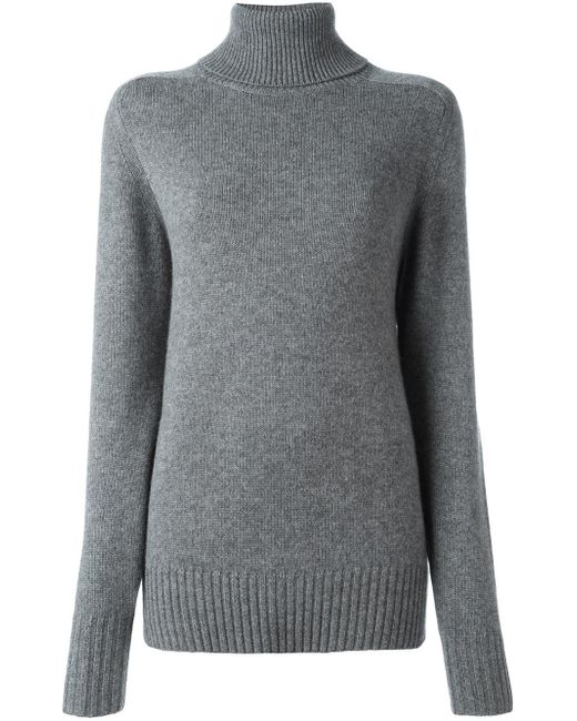 Chloé | Gray Oversized Cashmere-blend Sweater | Lyst