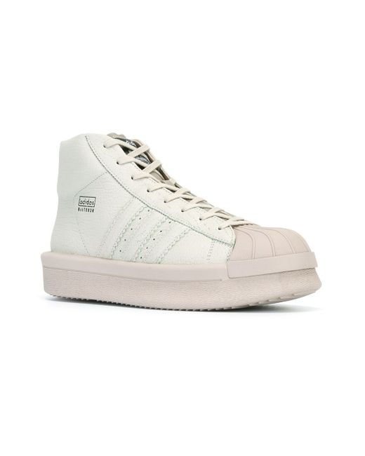 Rick Owens Mastodon Pro Model High Top Sneakers In Gray