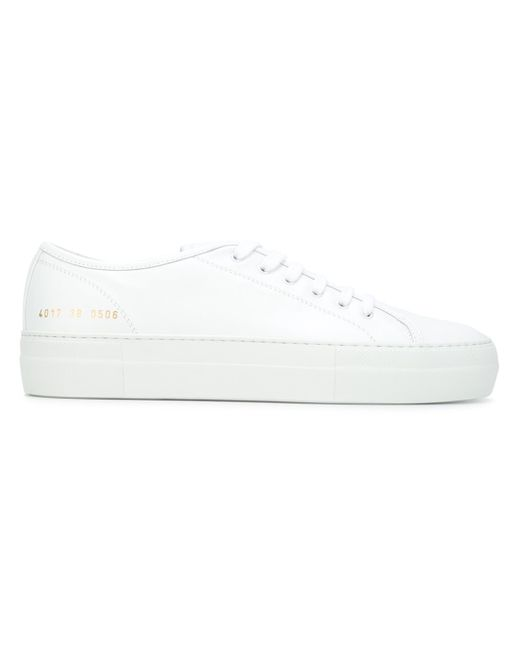common projects flatform lace up sneakers in white lyst. Black Bedroom Furniture Sets. Home Design Ideas