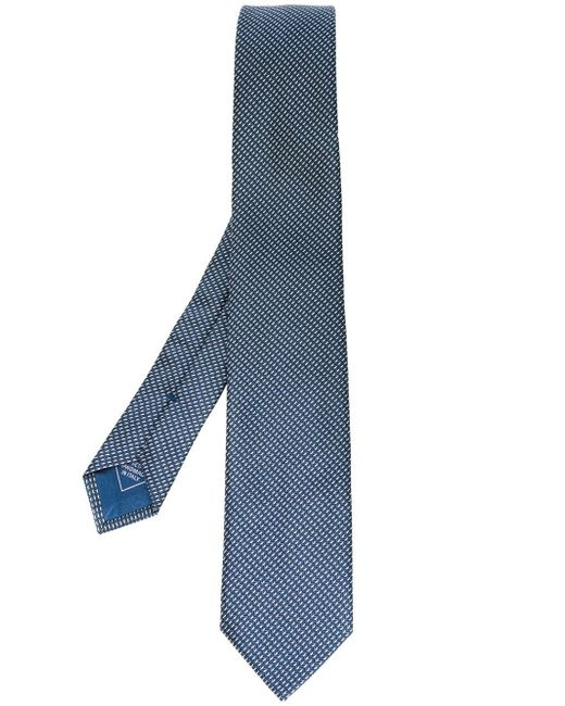 Brioni   Blue Geometric Silk Tie for Men   Lyst