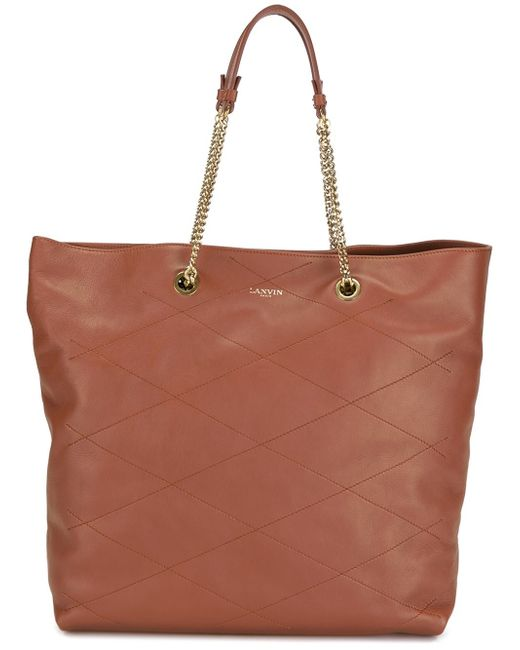 Lanvin | Brown - 'carry Me' Tote - Women - Leather - One Size | Lyst