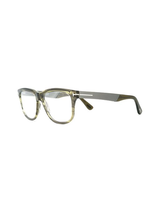 Glasses Frame Tom Ford : Tom ford Square Frame Glasses in Green Lyst