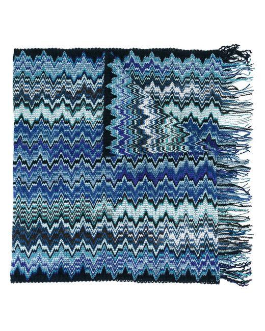 Missoni | Blue Zig-zag Knit Scarf for Men | Lyst
