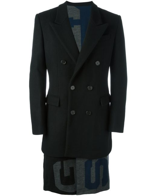 Juun.J | Black Double Breasted Coat for Men | Lyst