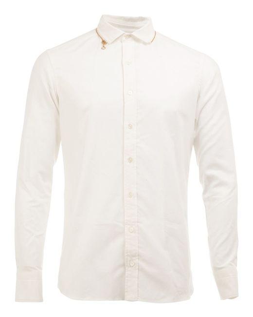 Kolor cutaway collar shirt in white for men lyst for White cutaway collar shirt