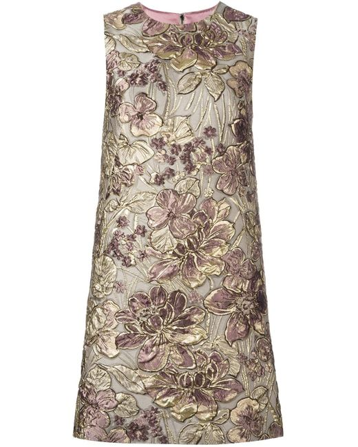 Dolce & Gabbana   Multicolor Floral Jacquard Shift Dress   Lyst