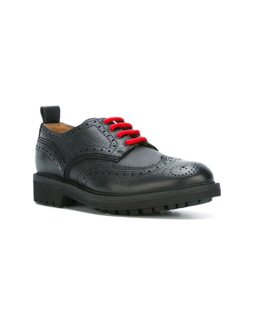 Givenchy Brogue Detail Derby Shoes In Multicolor For Men