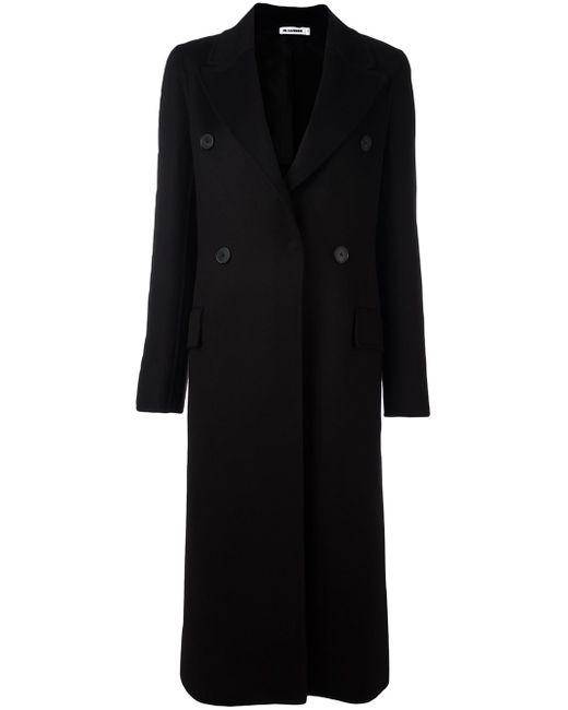 Jil sander Double Breasted Coat in Black