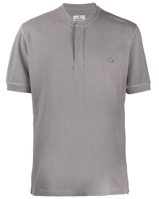 メンズ Vivienne Westwood ロゴ Tシャツ Gray